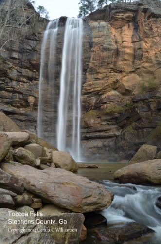 Toccoa Falls on the campus of Toccoa Falls College