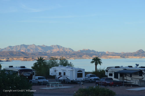 Lake Mead from Lake Mead RV Village at Boulder Beach